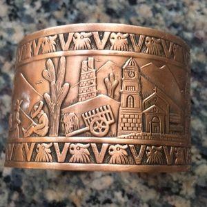 Copper cuff from AZ
